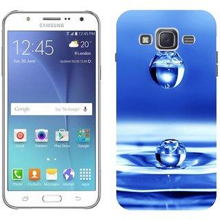 Samsung J5 Design Back Cover Case - Black Drop Water Liquid Spray