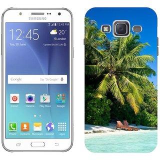 Samsung J5 Design Back Cover Case - Black Maldives Tropical Beach Palm Trees Summer Heat