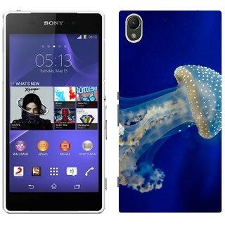 Sony Xperia Z2 L50W Design Back Cover Case - Black Jellyfish Underwater Sea