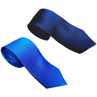 Wholesome Deal Navy Blue And Royal Colour Microfiber Narrow Tie Pack Of Two Online Get 62 Off