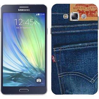Samsung A7 A7000 Design Back Cover Case - Black Jeans D