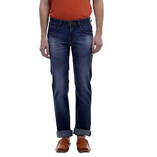 Revolt Mens Slim Fit Dark Blue Jeans