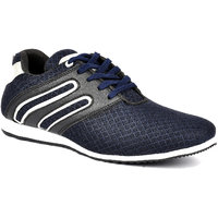 Footlodge Men's White & Blue Lace-Up Casual Shoes