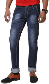 Cotton Stretchable Dark Blue Denim Jeans