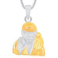 Sai Baba God Pendant With Chain Lockets For Men And  Women Gold Plated In American Diamond Cz  GP325