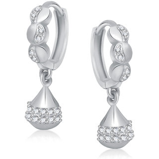 Meenaz Bali Earrings Fancy White Plated Earring For Women B181