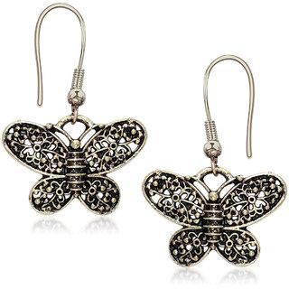Meenaz Silver oxidised Antique Earrings Fancy Party Wear Diamond Earrings For Women  Girls ER109A