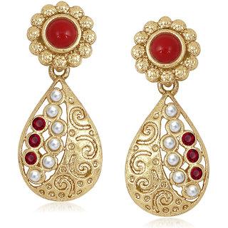 Meenaz Traditional Earrings Fancy Party Wear Kundan Moti Pearl Daimond Earrings For Women - TR182