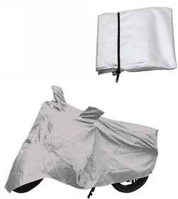 Autoplus Bike Body Cover with Mirror Pocket for Honda Activa 3G (Colour Silver)