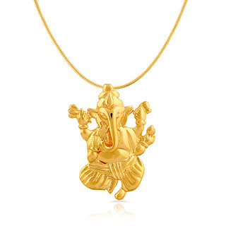 Mahi Gold Plated Gold Alloy Pendant With Chain Only for Women
