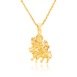 Mahi Gold plated Maa Durga Pendant PS1101506G