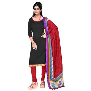 Trendz Apparels Multi Color Silk Dupatta