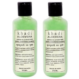 Khadi Aloevera Shampoo with conditioner  420 ml (Twin Pack)