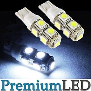 love4ride New 2 Pcs. 9 SMD LED Bulb 12 Volt DC Car Bike Indicator Parking Bulb White