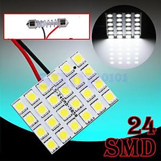 love4ride 24 Smd Domeroof Light For Car White Color