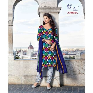 AROMA 6 (WITH (CHIFFON DUPATTA)) QUALITY COTTON DRESS MATERIAL (UNSTITCHED) 3140