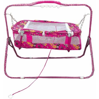 Suraj babypink cradles(JHULLA and PALNA) with mosquitonet for your kids SE-JP-23