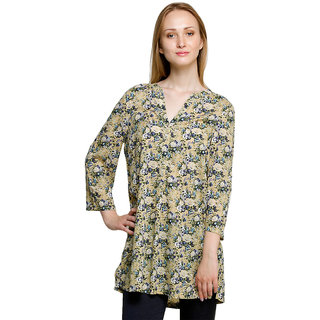 Oxolloxo Womens Green Polyester Casual Tunic
