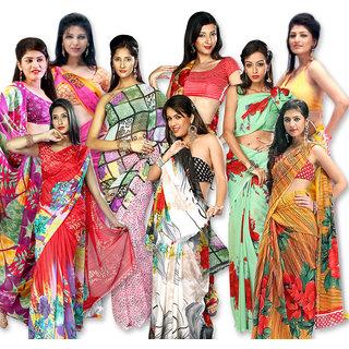 Czar  Designer Nine Saree Combo Collection