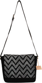 Rub  Style Hand Crafted Leather Dotted Zig Zag Print Sw