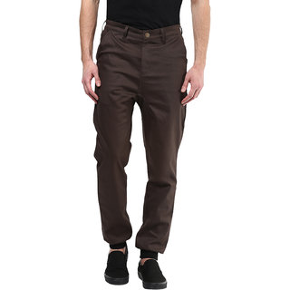 3fed1a706a19 Buy Hypernation Dark Brown Color With Cotton Casual Pant For Men Online -  Get 57% Off