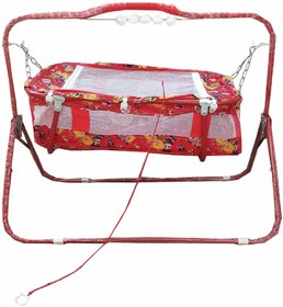 Suraj baby  red cradles(JHULLA and PALNA) with mosquito net for your kids