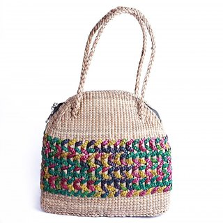 Ladies handbag made of water hyacinth very unique and fashionable.