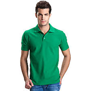Octave MenS Absinth Half Sleeves Crew Neck Cotton T-Shirt