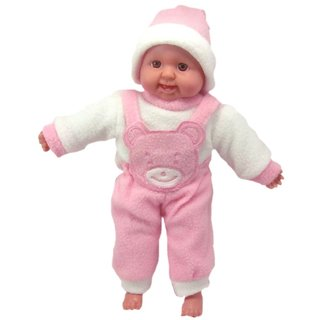 Zaprap laughing baby boy soft toy for kids pink