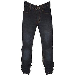 L Zard Men's Streachable Regular Fit Black Jeans