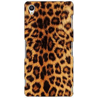 Jugaaduu Cheetah Leopard Print Back Cover Case For Sony Xperia M4 - J610080