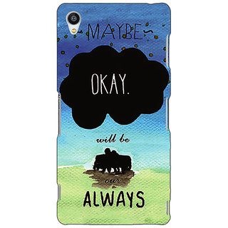 Jugaaduu TFIOS Maybe OKAY will be Our Always 2  Back Cover Case For Sony Xperia M4 - J610112