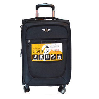 Texas 24 inch 4wheel  Trolley Bag-Black