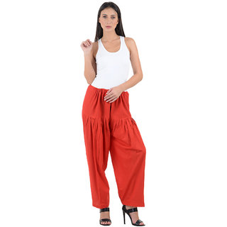3ca99be1d71 Buy NumBrave Womens Cotton Red Semi Patiala Salwar Online   ₹249 from  ShopClues