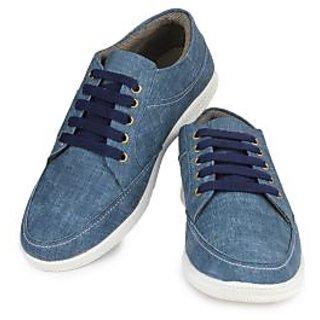 Do Bhai Men's Blue Lace-Up Casual Shoes