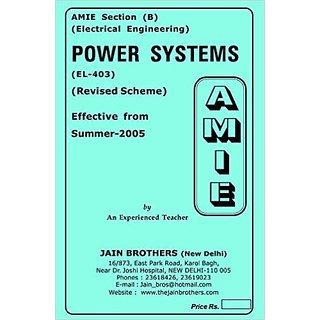 AMIE - Electrical Engineering Section (B)  Power Systems ( EL- 403 )