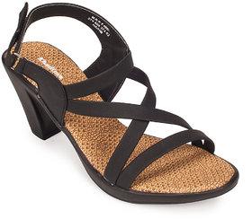 Khadims Womens Black Slingback Heel Sandal