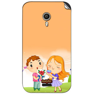 Instyler Mobile Skin Sticker For Micromax Canvas Lite A92 MSMMXCANVASLITEA92DS-10055 CM-2455