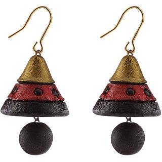 Terracotta Jhumki Hanging Earrings
