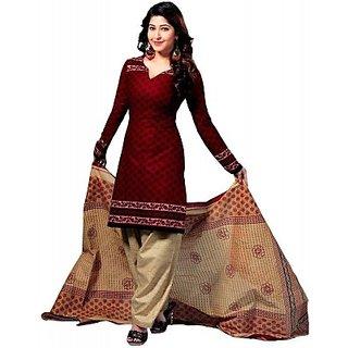 Fashion Valley Cotton Printed, Geometric Print Salwar Suit Dupatta Material  Unstitched