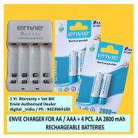 AA RECHARGEABLE BATTERY 2800 MAH 1.2 V NIMH 4 PCS. + ECR 20 CHARGER FOR AA/AAA