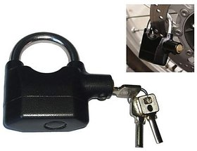 Anti-theft Key Lock Padlock Shock Sensor 110dba Electronic Sound Alarm