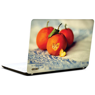 Pics And You Heart In Oranges 3M/Avery Vinyl Laptop Skin Sticker Decal-LV035