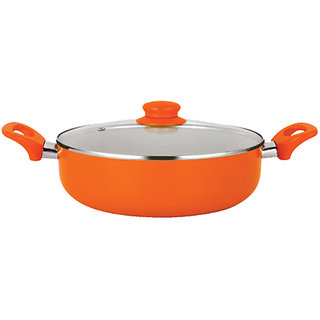 Buy Nirlon Ceramic Induction Deep Casserole With Glass Lid 240mm