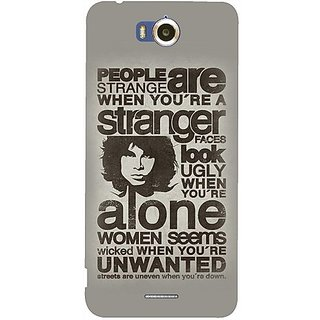 Casotec Quotes Pattern Design Hard Back Case Cover for Infocus M530
