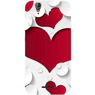 Casotec Multiple Hearts Design Hard Back Case Cover for Acer Liquid Z630