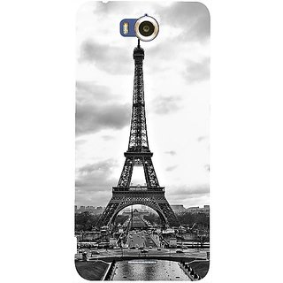 Casotec Paris City Design Hard Back Case Cover for Infocus M530