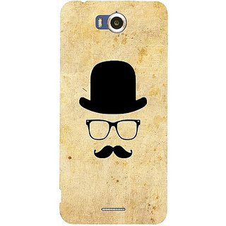 Casotec Mustache Happy Design Hard Back Case Cover for Infocus M530