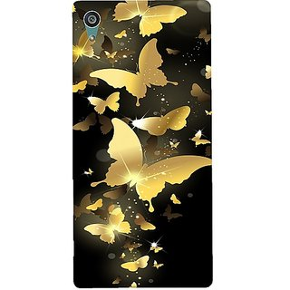 Casotec Golden Butterfly Pattern Print Design Hard Back Case Cover for Sony Xperia Z5 Dual