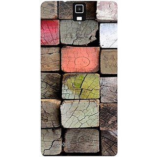 Casotec Wood Lumber Paint Design Hard Back Case Cover for Infocus M330